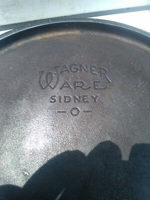 Large Antique Cast Iron Wagner Ware Griddle