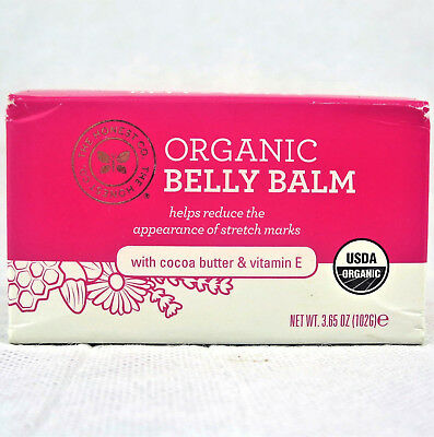 THE HONEST CO. Organic Belly Balm w/ Cocoa Butter & Vitamin E 3.65 OZ/ 102 G