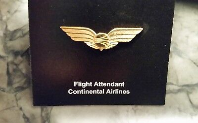 Vintage Continental Airlines Mini Flight Attendant F/a Crew Wings Mint New A+