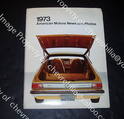 1973 AMERICAN MOTORS Press Kit Ambassador AMX Javelin GREMLIN Matador AMC PHOTOS
