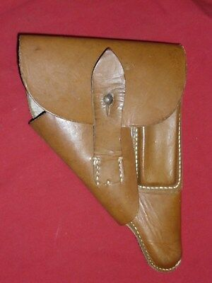 German WWII Walther PP Pistol Holster HSY Marked Rare Luftwaffe Orange Brown