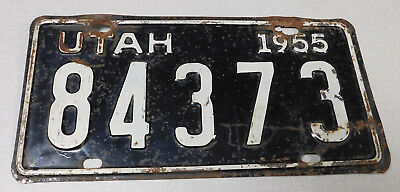 1955 Utah passenger car license plate