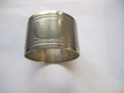 Vintage Round Silverplate Napkin Ring with Decorations