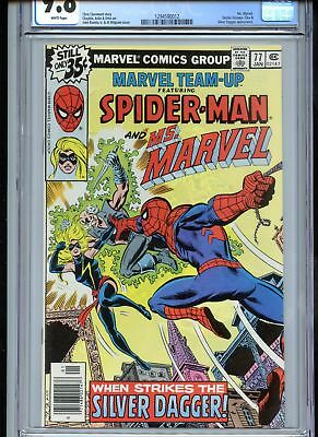 Marvel Team-Up #77 CGC 9.8 White Pages Ms. Marvel