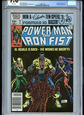 Power Man and Iron Fist #78 CGC 9.6 White Pages Sabretooth