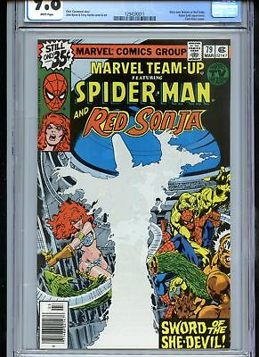 Marvel Team-Up #79 CGC 9.8 White Pages Red Sonja
