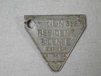 1919 California non-resident license plate