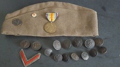 Original U.s. Army Ww I Medical Group. Hat, Dogs, Buttons, Medal