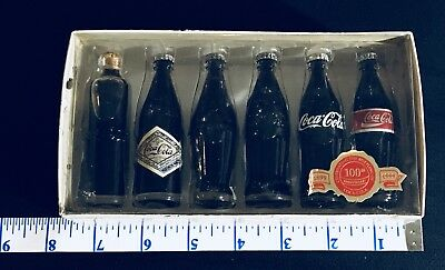 Coca Cola 6 Original Glass Bottles Thru The Years