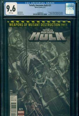 TOTALLY AWESOME HULK #21 CGC 9.6 NM+ 1st WEAPON H Cameo Marvel Comics WOLVERINE