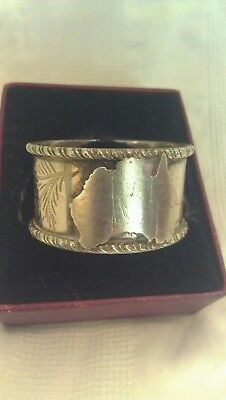 Stokes and Sons, Australian pre Federation Silver napkin ring, antique, Melb.