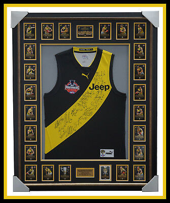 2017 Afl Premiers Richmond Signed Official Grand Final Jumper Framed With Cards
