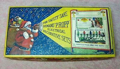 Antqiue #83 Set of Propp Christmas Lights w/ Mazda Lamps in Original Display Box