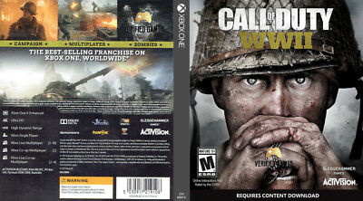 Call Of Duty Wwii Ww2 (Xbox One S X) Replacement Case