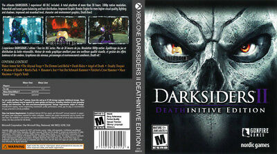Darksiders Ii Deathinitive Edition (Xbox One S X) Replacement Case, No Game