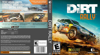 Dirt Rally (Xbox One S X) Replacement Case, No Game