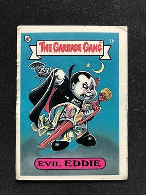 The Garbage Gang Evil Eddie 1b 1985 Card Sticker Vintage