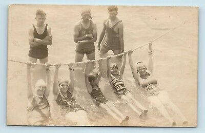 Salt Lake City, UT - c1930s SURF BATHERS SCENE - RPPC GUTHRIE STATION CANCEL B3