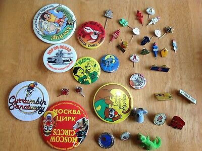 Badges lot of 36, collectable. Condition varies.