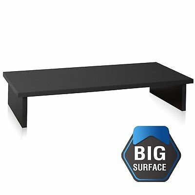 FITUEYES 1 Layer Desktop TV Stand Monitor Riser for Home Office Desk Storage