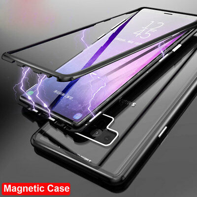 360° Magnetic Metal Bumper Case for Samsung Galaxy Note 9/S8 S9 Plus Cover Shell