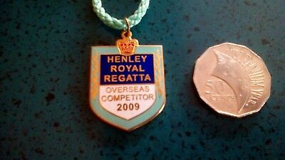 Henley Royal Regatta Overseas Competitor 2009 Badge~No: 91~W.o.lewis Badges~Used