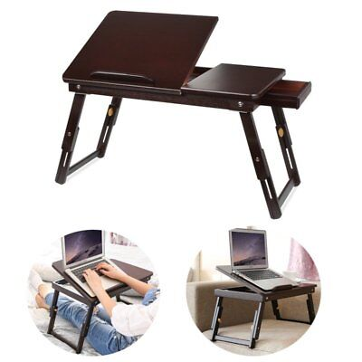 portable laptop stand folding PC table adjustable lazy desk Tray bed sofa Retro