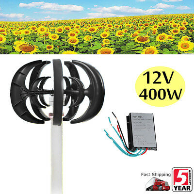400W 5 Blades Wind Turbine Generator 12V Windmill Power Charge Controller USA