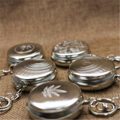 Hotsale Pocket Stainless Steel Portable Round Cigarette Ashtray Keychain Gift JJ
