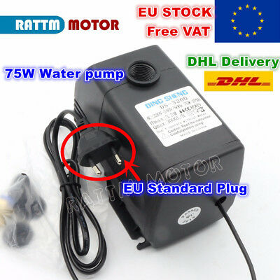 【EU】75W Water Pump 3.2m 220V AC for CNC Engraving Milling Machine Spindle Motor
