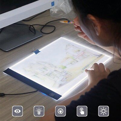 A4 LED Writing Painting Light Box Tracing Board Copy Pads Drawing Digital Board