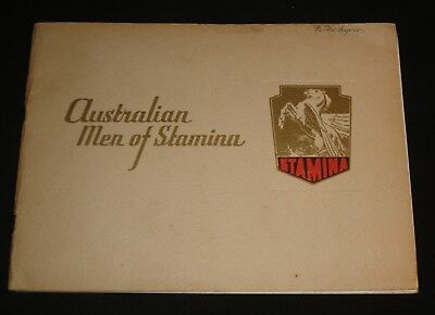 Australian Men Of Stamina History Booklet Stamina Clothing Booklet 1950