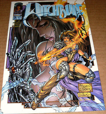 Witchblade #3 SIGNED Marc Silvestri +1 Top Cow Michael Turner 1st print TV show