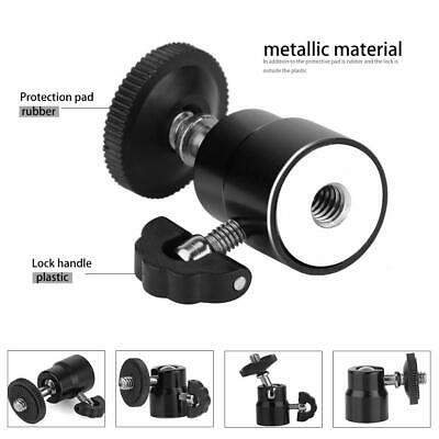 "360°Rotation Ball Head 1/4"" Screw Mount DSLR Camera Tripod Monopod Ballhead BY"