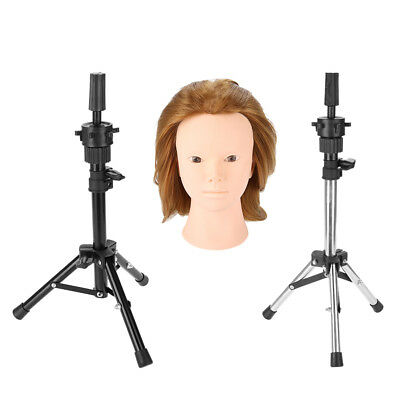 New Hairdressing Black Tripod Adjustable Mannequin Head Holder Training Stand