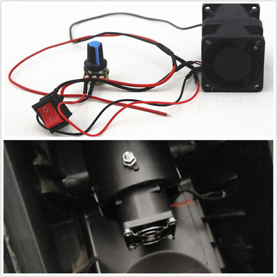 DIY Car 12V Turbo Supercharger Boost Intake Fan ACE40+Switch Potentiometer Cover