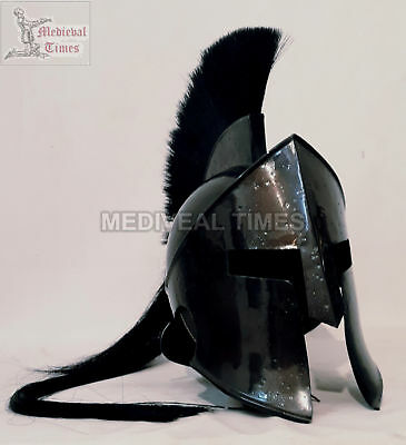 Black Roman 300 Spartan Helmet King Leonidas Movie Replica Helmet Medieval Gift