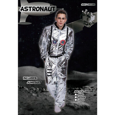Adult Astronaut Jumpsuit Costume Cosplay Space Suit Silver Shuttle Halloween Hot