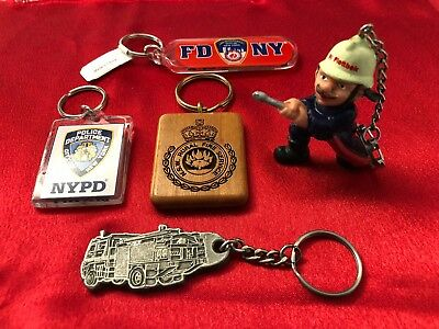 Fire Brigade Collectables - Key Rings x 5 for collectors