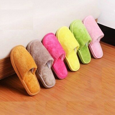 Unisex Womens Mens Slippers Warm Soft Anti skid House Indoor Home Slipper Shoes