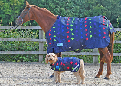 Maxima Waterproof Dog Coat - Multi Star - 6 Sizes