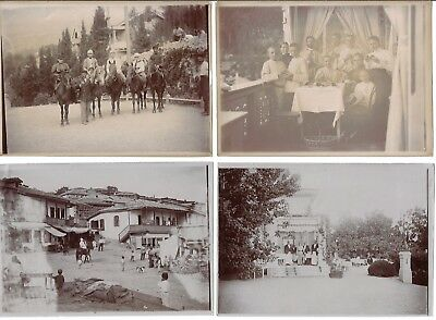 A Group Of 4 Antique Russian Photographs Of A Family Vacationing In Crimea