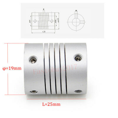 1PC 5/6.35/7/8/10mm Flexible Shaft Coupling CNC Stepper Motor Coupler Connector