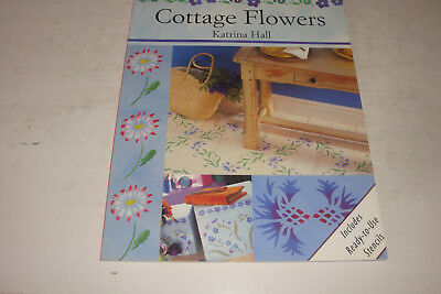 The Stencil Collection-Cottage Flowers-Katrina Hall With  Ready To Use Stencils