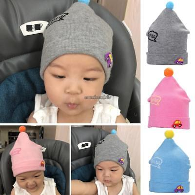 Baby Fashion Casual Cartoon Car Small Hair Ball Curl Edge Knitted Hat CLSV