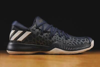 7c38d6827b1 Adidas James Harden Bounce Edition low Mens blue Basketball Shoes Size UK  12.5