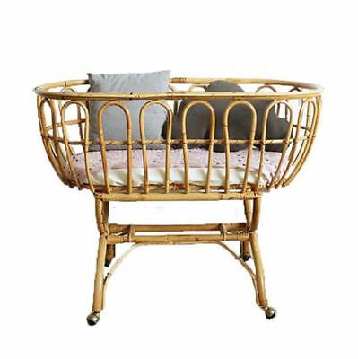 """Moses """"Wicker & Loom"""" Basket """"YAMI""""  with Matching Stand - Neutral Colors"""