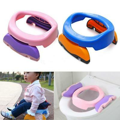 Baby Kids Foldable Portable Travel Potty PP Plastic Training Chair Toilet Seat F