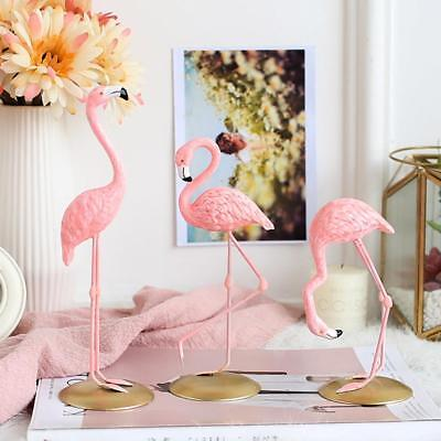 Pink Flamingo Home Decor Resin Statue Cute Animal Family Tabletop Ornament
