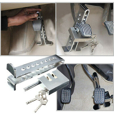 Car Truck 8 Hole Lock Stainless Steel Clutch Anti-Theft Brake Security Lock Tool